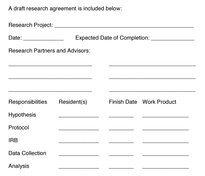A draft research agreement